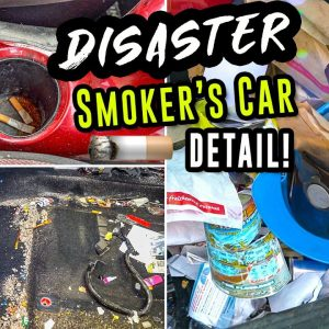 Deep Cleaning a SMOKER'S Filthy Car | DISASTER Car Detailing and INSANE Transformation!!