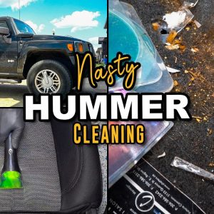 SUPER Cleaning a Big Dirty HUMMER! | Nasty Carpet Cleaning and Disaster Detail Transformation!