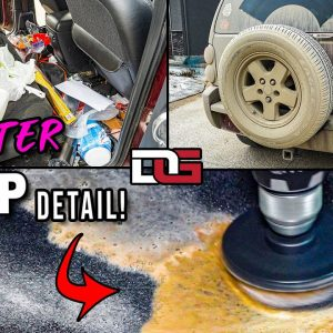 EXTREME Cleaning a NASTY Garbage Can on Wheels! | Disaster Detailing a Jeep Liberty