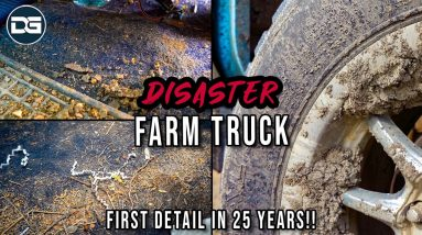 Deep Cleaning a DIRTY Old Farm Truck! | Insane 25 Year Disaster Detail Transformation
