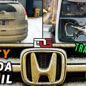 Super Cleaning a NEGLECTED Honda CRV! | NASTY Grimy Kid-Trashed Car Detailing Transformation!