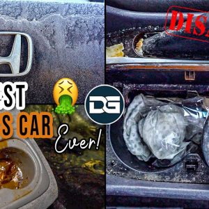 Super Cleaning The NASTIEST Smoker's Car I've Ever Seen! | INSANE Transformation of a Honda Accord!