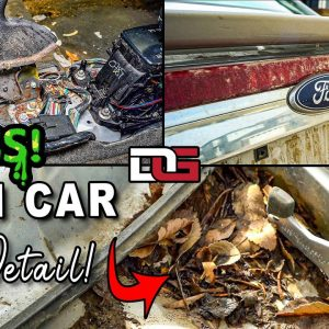GUTTING and Cleaning a NASTY Farm Car! | Extreme Clean of a Gross Ford Fusion