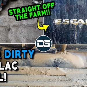 Deep Cleaning a Farmer's DIRTY Escalade! | Insanely Dusty Car Detailing of a Cadillac!