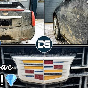 Deep Cleaning a FILTHY Cadillac XTS! | Winter Wash and Car Cleaning of a Muddy Caddy!