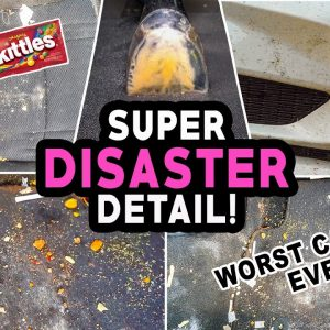 EPIC Car Detailing Transformation! | Deep Cleaning a DISASTER Completely Trashed Car!