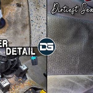Total DISASTER Dirtiest Seats Ever Car Detailing! | Nasty Deep Cleaning & EPIC Transformation!