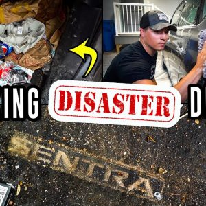 This Car Was TRASHED in Only 2 Years! | Disaster Car Cleaning of a Nissan Sentra