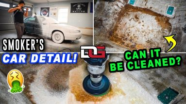 Deep Cleaning a SMOKER'S Nasty Car! | Extreme Stain Removal & Car Detailing | The Detail Geek