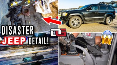 Deep Cleaning a DISASTER Jeep Grand Cherokee! | Insane Car Cleaning Transformation | The Detail Geek