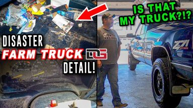 Deep Cleaning a FILTHY Old Farm Truck! | INSANE Disaster Detailing Transformation! | The Detail Geek