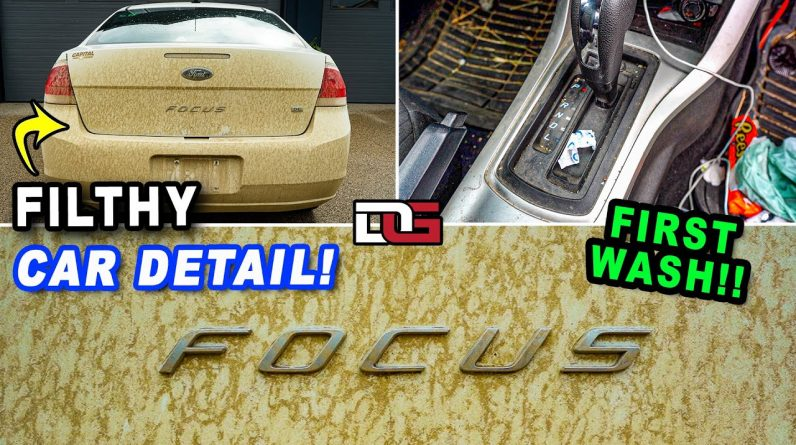 Deep Cleaning a NEGLECTED Ford Focus! | First Wash Muddy Pressure Washing | The Detail Geek
