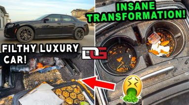 Deep Cleaning an INSANELY Dirty Luxury Car! | Nasty Car Cleaning Transformation | The Detail Geek